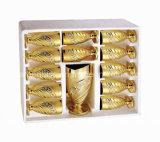 ремесленничество 7PCS золотистое высекает стеклянный установленный питчера (EX-DSK39)