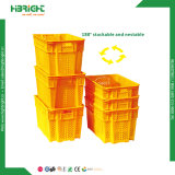 Bac empilable de fourre-tout de la caisse de rangement en plastique utilisés pour la ferme