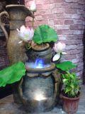 Fontaine de Polyresin avec la théière (TM57256)