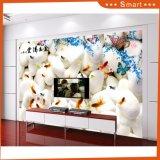 el pequeño Goldfish 3D Wallpapers la pintura al óleo moderna para la sala de estar
