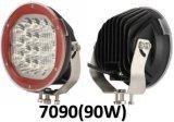 La ronda 5 LÁMPARA DE LED 18W de la barra de luz LED de trabajo off road ATV SUV Jeep carretilla alimentación de la luz Spot lámpara exterior coche Luz Drop Shipping pilas recargables LED luces de trabajo