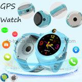 Relógio portátil do perseguidor do GPS redondo dos miúdos/criança da tela com câmera D14