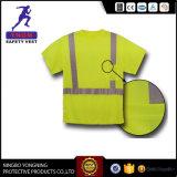 공장에서 높은 시정 종류 2 남자의 안전 t-셔츠