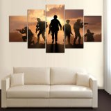 5 панель HD напечатала изображения искусствоа стены декора искусствоа печати холстины картины самомоднейшие домашние для живущий плаката армии комнаты на холстине Mc-156