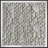 Геометрическая ткань шнурка вышивки точного Workmanship