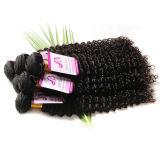 7A Yaki Straight Human Hair 4PCS / Lot Brazilian Light Yaki Extensions de cheveux Italian Yaki Weaving Natural Black Kinky Straight Hair