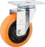 Doppelte Bremsen-mittlere Aufgabe PVC-Fußrolle (KMX4-M13)