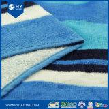 綿の縞のビーチタオル