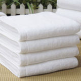 Katoenen van 100% Vlakte verfte de Witte Zachte Reeks van de Badhanddoek van het Hotel (DPFT8043)