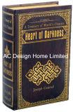 Lámina de oro antiguo relieve Vintage de cuero de PU/almacenamiento de madera MDF cuadro Libro