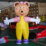 Kreatives aufblasbares gehendes Bären-Karikatur-Kostüm Moscot für Spaß
