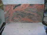 Veelkleurig Rood Graniet, de Tegels van het Graniet en de Plakken van het Graniet