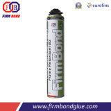 Espuma de poliuretano incombustible adhesiva inmediata
