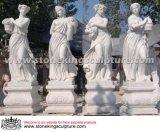 4季節(SK-2467)の手によって切り分けられる自然な大理石の彫刻