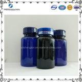 frasco plástico da medicina do animal de estimação 150ml azul para o empacotamento farmacêutico