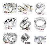 Joyería del anillo de dedo de la plata esterlina de la marca de fábrica 925 de la manera