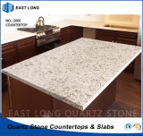 Partie supérieure du comptoir artificielle de cuisine de pierre de quartz pour Home Depot avec la qualité (couleurs de marbre)