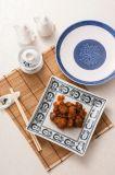 고품질 파란과 백색 색깔 둥근 큰 접시