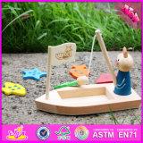 Novo Design 2016 crianças gato de madeira brinquedo pesca W01b029