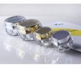 5g 10gの金および銀の正方形のアクリルのクリーム色の装飾的な瓶