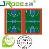 Plancher en caoutchouc matériel de terrain de basket mou de Guangzhou