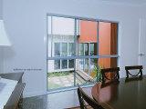 Aluminio Windows de desplazamiento de los canales múltiples con el vidrio de la burbuja