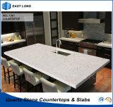 Künstlicher Quarz-Stein-KücheCountertop für Home Depot mit Qualität (Marmorfarben)