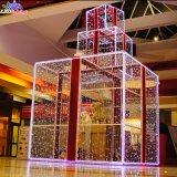 Luz ao ar livre do motivo da caixa de presente da decoração 3D do feriado da qualidade superior