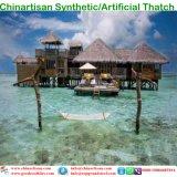 Tiki 바를 위한 자연적인 보기 종려 합성 이엉 또는 Tiki 오두막 합성 지붕을 짚으로 인 초막 물 방갈로 비치 파라솔 6