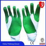 安全作業のための10のゲージ2ストリング乳液によって塗られる作業手袋