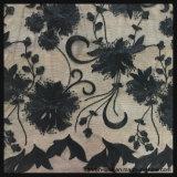 Черный шнурок вышивки Sequins сетки для платья