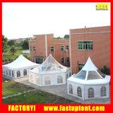PVC Alumínio branco picos altos de tenda Gazebo para 150 pessoas e lugares de comentários