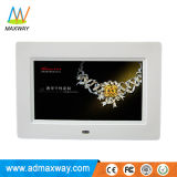 주문 루프 영상 광고 7 인치 LCD 디지털 액자 재충전 전지 (MW-079DPF)