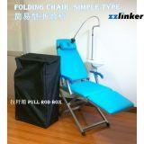 com a cadeira dental portátil fácil do sistema da luz e da turbina