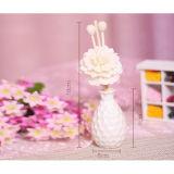 Florero blanco casero de la decoración 50ml con la flor de Sola del petróleo esencial para los conjuntos del regalo de la caña del difusor