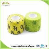 Ce/FDA/ISO druckte Tierarzt-Verpackungs-selbstklebenden elastischen Bindeverband