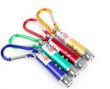 Comercio al por mayor de luz láser Mini Lámpara UV y puntero láser con mosquetón