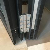 Bi-Folding Porta de Metal com perfil de alumínio