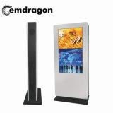 完全なHD 3G WiFiの広告プレーヤーのビデオダウンロードを広告する工場使用ビールのためにプレーヤー屋内LCDデジタルの表記を広告する55インチの永続的な床