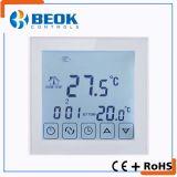 Termóstato eléctrico de la calefacción con la pantalla táctil grande y el programa semanal