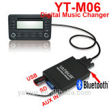 4-em-1 Bluetooth/USB/SD/AUX no carregador de música digital Yatour Kit Car Audio