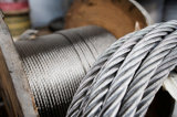 직류 전기를 통한 철강선 밧줄, 기중기 전화선