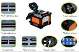 中国の上の融合のスプライサの製造業者自動焦点によってモーターを備えられる接続装置の端から端まで光ファイバスプライサ