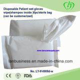 Одноразовые перчатки в масляной ванне пациента салфетку (шампунь внутри)