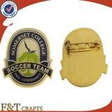 Pin barato del esmalte del oro del Pin del metal de la solapa de encargo al por mayor de la divisa