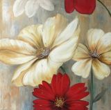 Décoration maison Handmade encore la peinture d'huile de la vie de fleur colorée