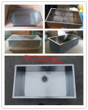 Edelstahl sondern nullradius-handgemachte quadratische Küche-Wanne aus