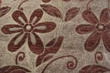 Tissu de capitonnage bon marché de tissu de sofa de Chenille du jacquard 100%Polyester