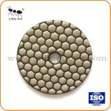 중국 화강암 갈기를 위한 3 인치 다이아몬드 수지 유대 지면 닦는 패드