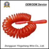 Cable espiral de Pur del cable del resorte de la cuerda de alambre de acero de la alta calidad TPU para la seguridad
